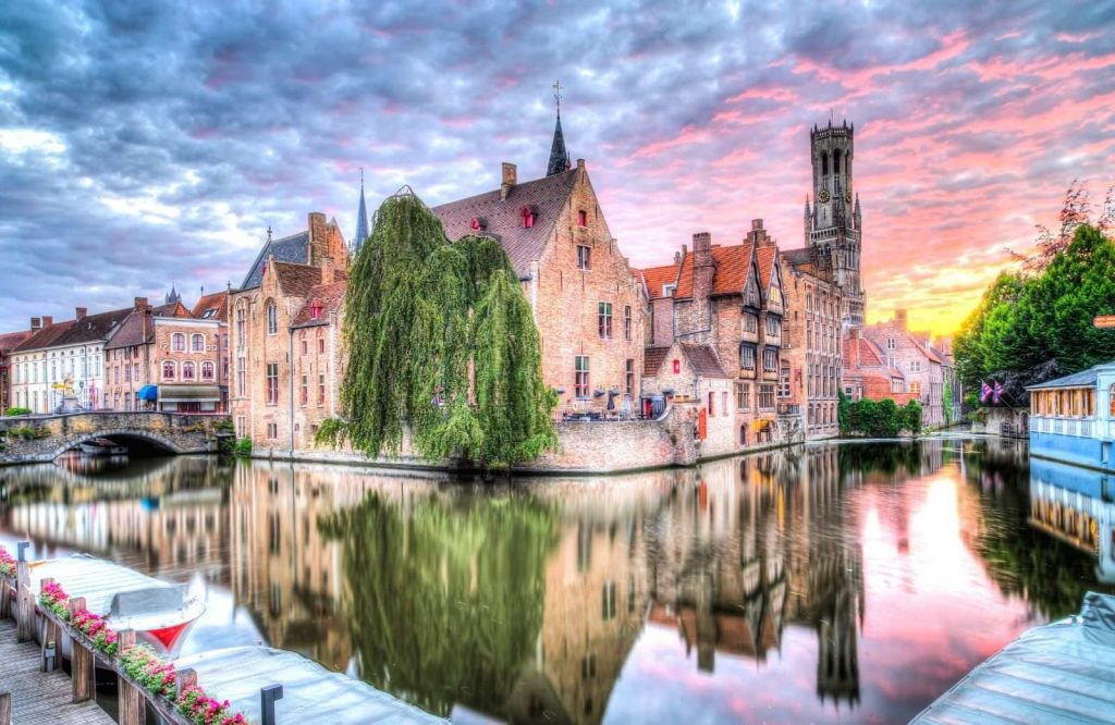 One of the most perfect romantic cities in Europe is Bruges.