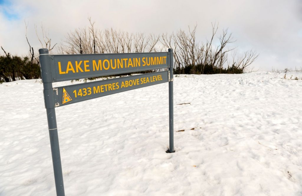 During winter, one of the best day trips from Melbourne is Lake Mountain.