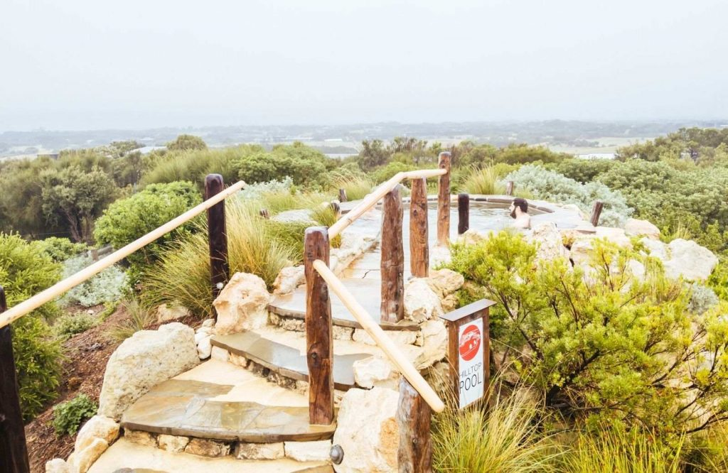 Mornington Peninsula Hot Springs is one of the most relaxing day trips from Melbourne.