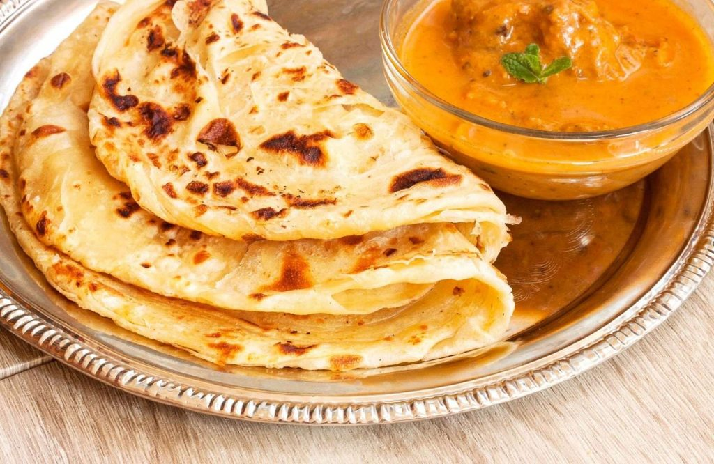 Rotis are a delicious Indian street food dish.