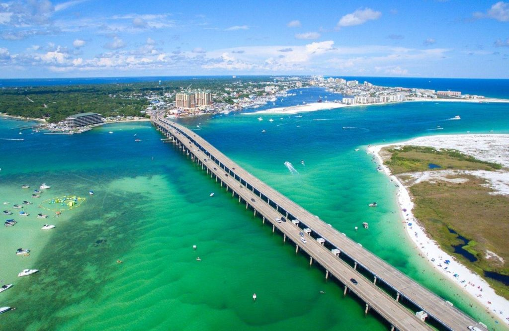 The best time to visit Crab Island Destin is during the summer.
