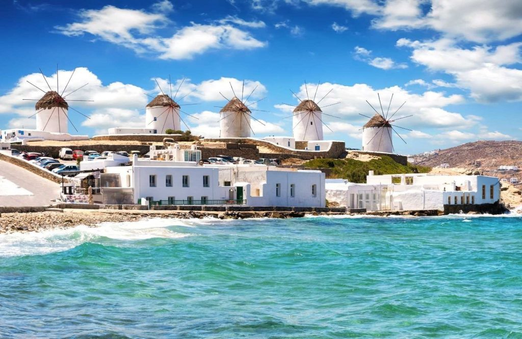Be sure to consider the attractions when researching Santorini or Mykonos.