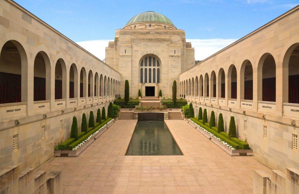 The Australian War Memorial is one of several historic landmarks in Australia.
