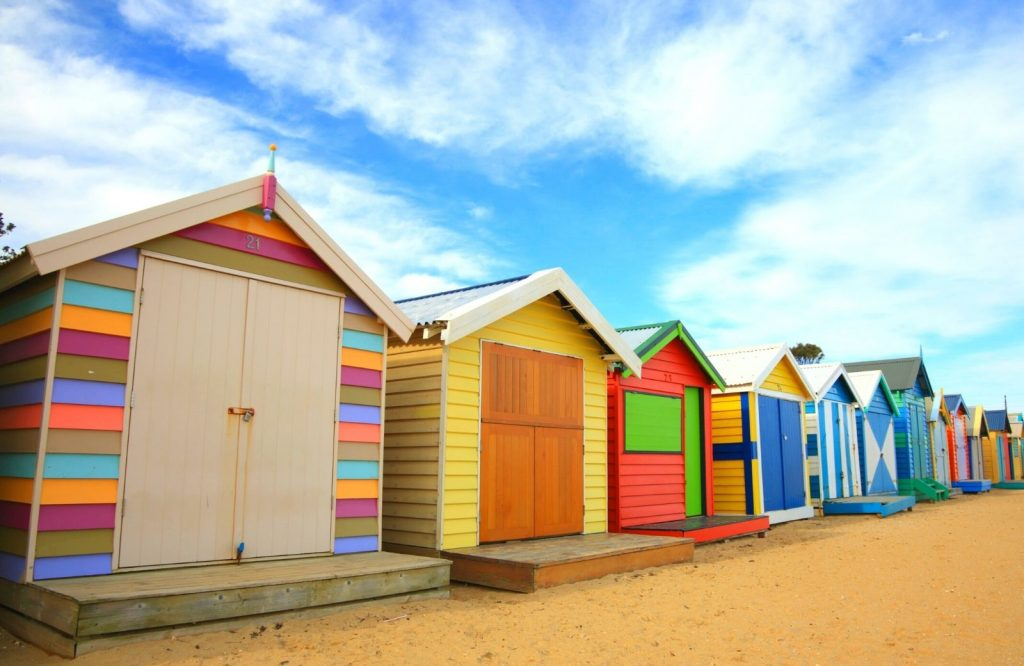 The Brighton Bathing Boxes are one of the coolest landmarks in Australia.