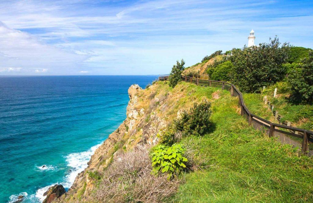 A great landmark in Australia is Cape Byron Lighthouse.