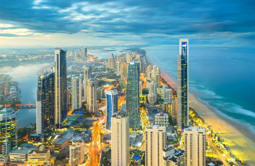 Gold Coast is one of several famous landmarks in Australia.