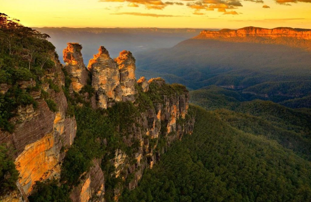 One of the most unique landmarks in Australia are the Three Sisters.