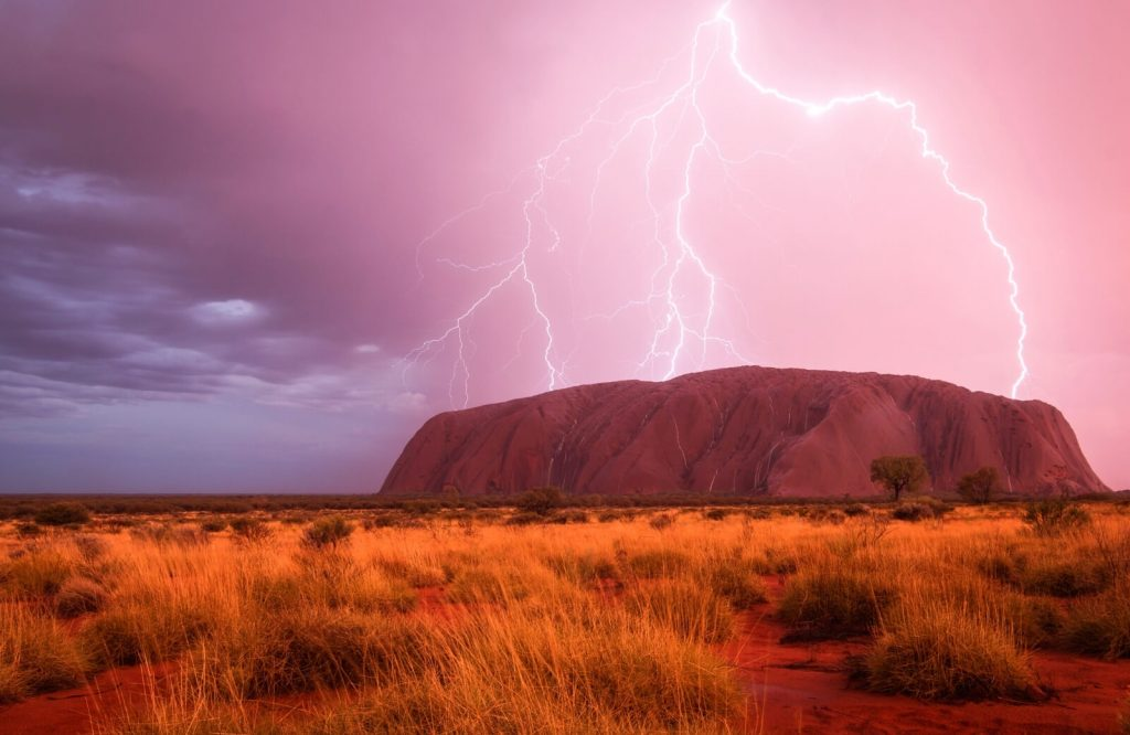 The list of landmarks in Australia includes Uluru.