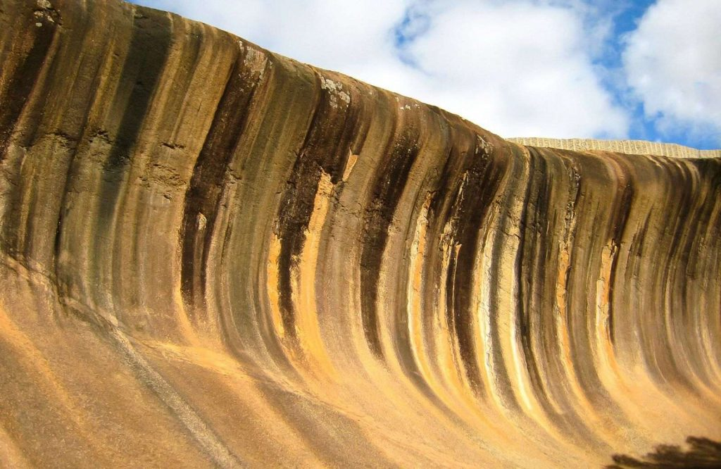 The wave rock is one of many landmarks in Australia.